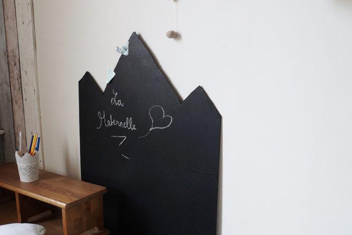 DIY tableau noir pour chambre d'enfant (spécial rentrée)