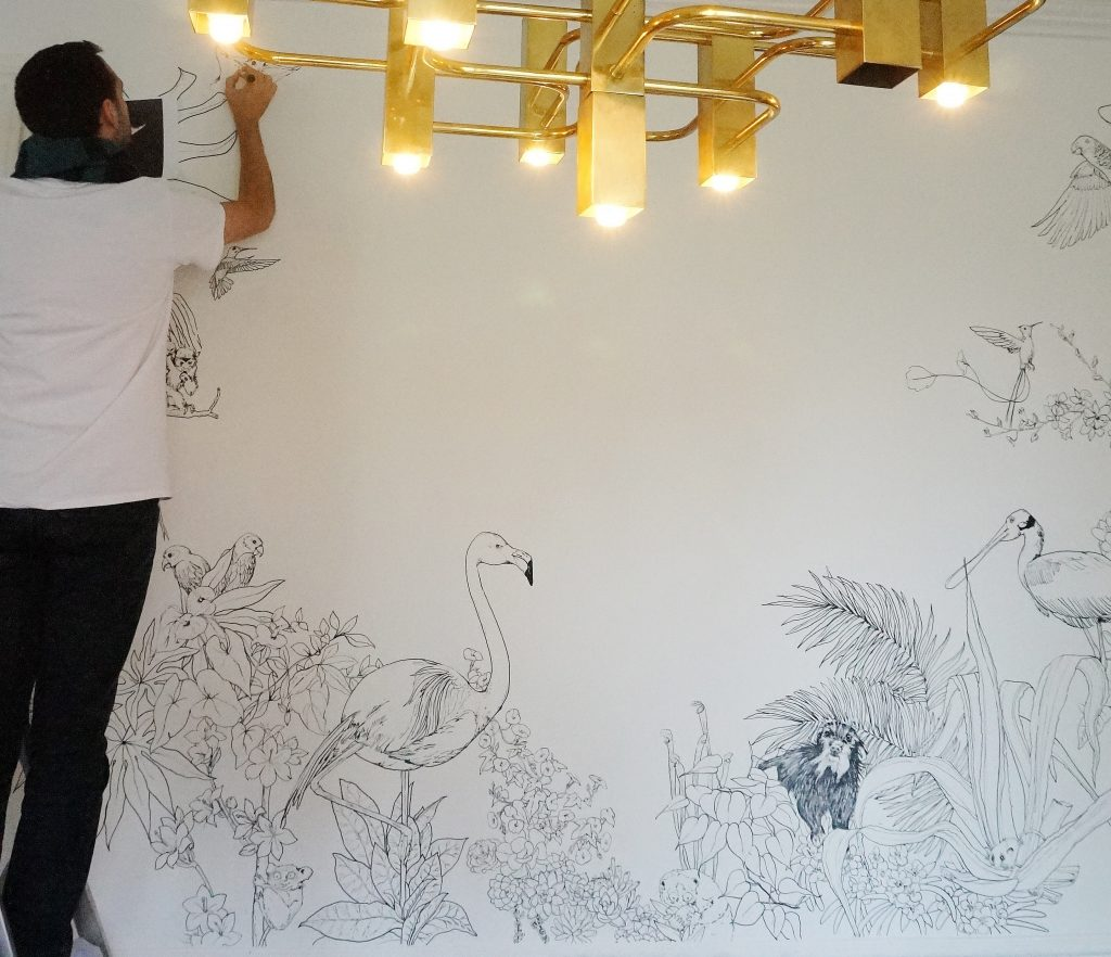 Fresque murale Caddous&Alvarez mahousindeco.com