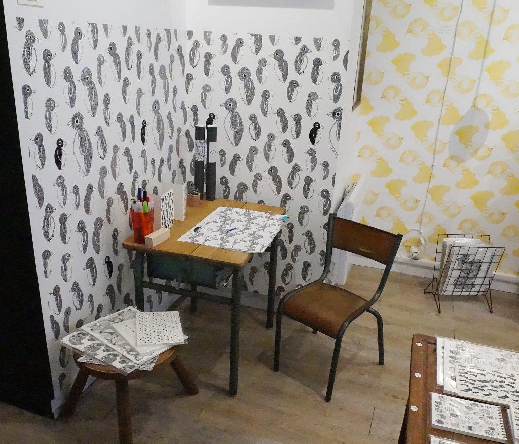 papier peint atelier mouti archives mahousindeco. Black Bedroom Furniture Sets. Home Design Ideas